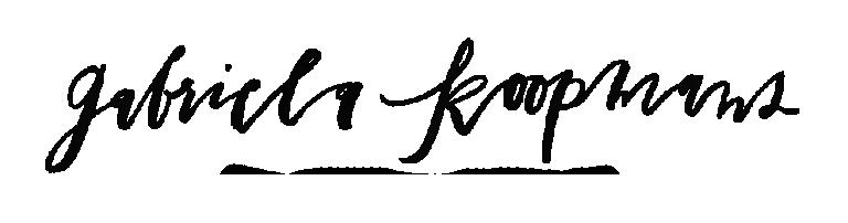 Gabriela Koopmans signature